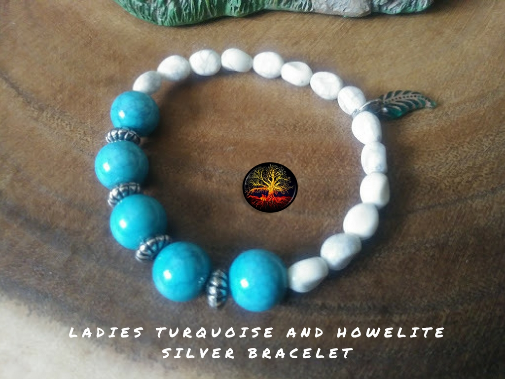 Turquoise and Howelite