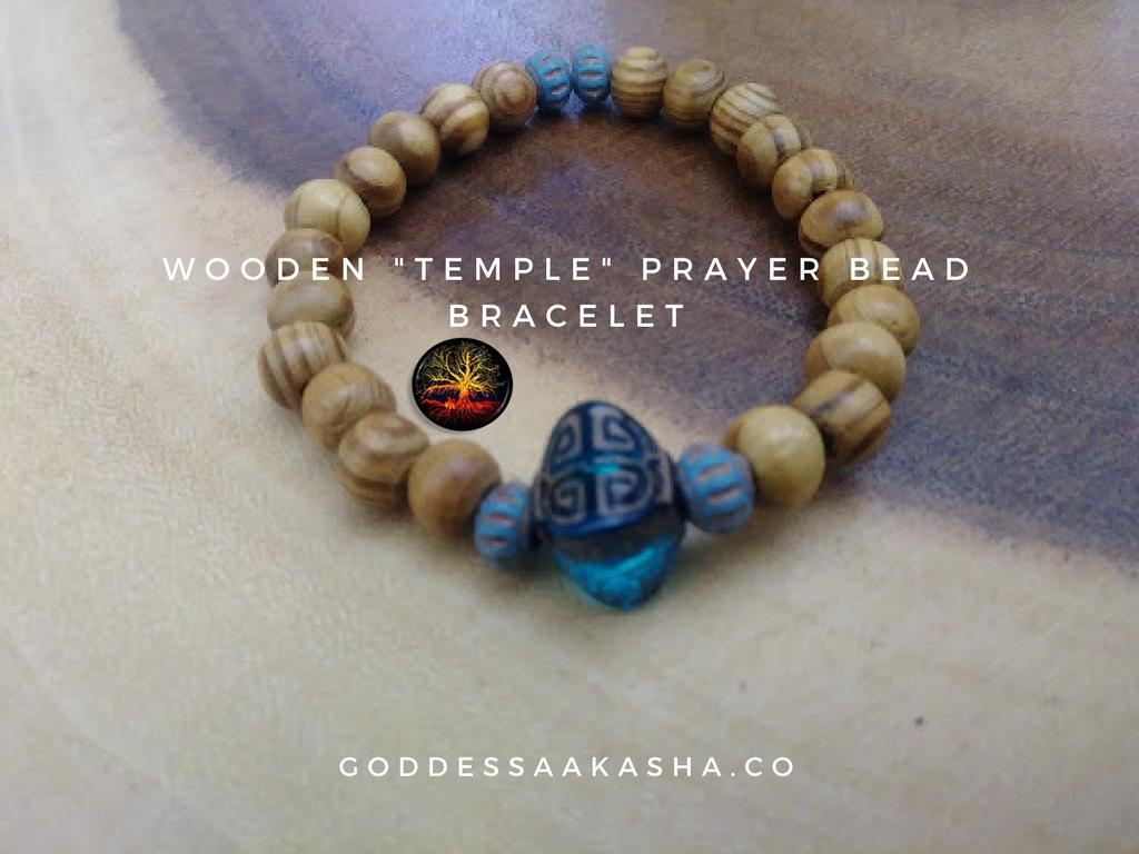 Wooden _Temple_ Prayer Bead Bracelet