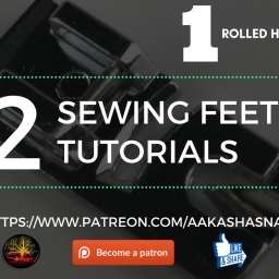 32 Piece Sewing Feet Tutorial  #1 6mm Rolled Hem Foot